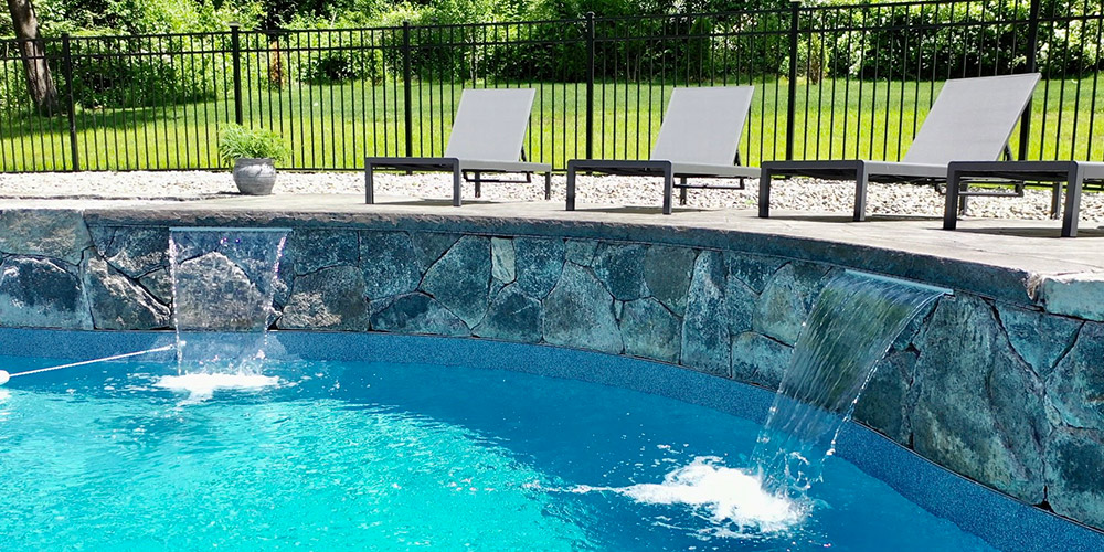 Stamped Concrete Pool Deck Photo